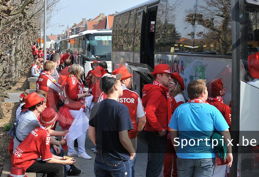 Bekerfinale KV Kortrijk - Sporting Lokeren : Voor de finale aan de Kouter in Kortrijk..foto VDB / Bart Vandenbroucke