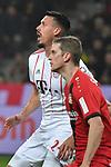 12.01.2018, BayArena, Leverkusen , GER, 1.FBL., Bayer 04 Leverkusen vs. FC Bayern M&uuml;nchen<br /> im Bild / picture shows: <br /> hinten Sandro Wagner (Bayern Muenchen #2),  und vorne <br /> Sven Bender (Leverkusen #5), Hochformat, <br /> <br /> Foto &copy; nordphoto / Meuter