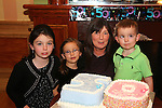 Mary Kavanagh, who celebrated her 50th birthday in the thatch, pictured with her grandkids Kaeleigh, Brianna and Morgan Balfe. The party wsa held in the Thatch.<br /> Picture: Shane Maguire / www.newsfile.ie