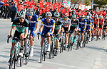 Bora-Hansgrohe and Quick-Step Floors line out the peloton during Stage 1 of the 54th Presidential Tour of Turkey 2018, running 150km from Konya to Konya, Turkey. 9th October 2018.<br /> Picture: Brian Hodes/VeloImages | Cyclefile<br /> <br /> <br /> All photos usage must carry mandatory copyright credit (© Cyclefile | Brian Hodes/VeloImages)