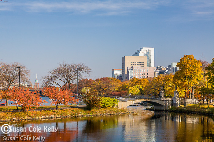 Autumn on the Charles River Esplanade, Back Bay, Boston, MA