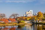 Autumn on the Charles River Esplanade, Back Bay, Boston, MA