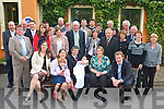 CHRISTENING JOY: Proud parents Marion and Padraig Cronin, Farranfore, Killarney (seated 2nd & 3rd left) celebrating the Christening of their son little Karl with family and friends at the Meadowlands Hotel on Saturday..   Copyright Kerry's Eye 2008