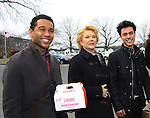 """OLTL Corbin Bleu """"Jeffrey King"""", Erika Slezak, Robert Gorrie """"Matthew Buchanan"""" - Welcome Back Rally to mark the returns of former ABC soap opera One Life To Live and All My Children. Due to overwhelming fan demand, both long-running dramas are being re-launched by producer Prospect Online Network (TOLN). The rally is in front of the Connecticut Film Center in Stamford, CT where the shows are now being produced on March 18, 2013 to coincide with OLTL's first tape date. (Photo by Sue Coflin/Max Photos)"""