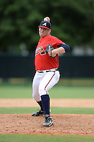 Atlanta Braves pitcher Richie Tate (60) during an Instructional League game against the Houston Astros on September 22, 2014 at the ESPN Wide World of Sports Complex in Kissimmee, Florida.  (Mike Janes/Four Seam Images)