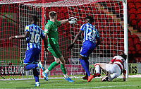 Blackpool's Armand Gnanduillet scores the opening goal <br /> <br /> Photographer Alex Dodd/CameraSport<br /> <br /> The EFL Sky Bet League One - Doncaster Rovers v Blackpool - Tuesday September 17th 2019 - Keepmoat Stadium - Doncaster<br /> <br /> World Copyright © 2019 CameraSport. All rights reserved. 43 Linden Ave. Countesthorpe. Leicester. England. LE8 5PG - Tel: +44 (0) 116 277 4147 - admin@camerasport.com - www.camerasport.com