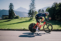Joseph RossKopf (USA)<br /> <br /> MEN ELITE INDIVIDUAL TIME TRIAL<br /> Hall-Wattens to Innsbruck: 52.5 km<br /> <br /> UCI 2018 Road World Championships<br /> Innsbruck - Tirol / Austria