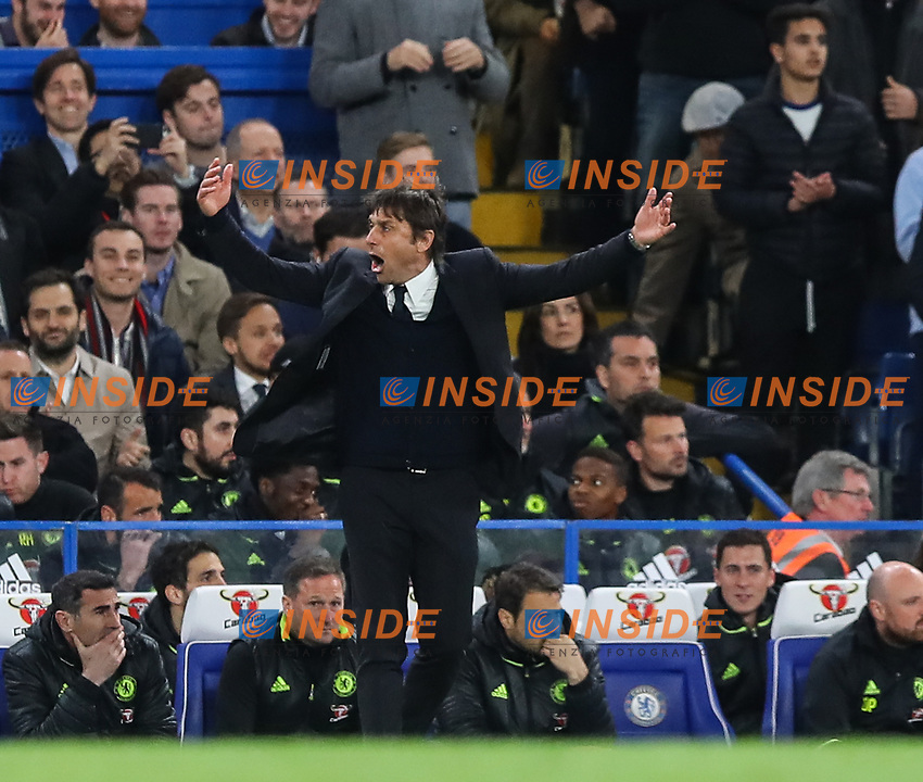 Antonio Conte, manager of Chelsea during the Premier League match between Chelsea and Manchester City at Stamford Bridge on April 5th 2017 in London, England. <br /> Foto PHC Images / Panoramic / Insidefoto <br /> ITALY ONLY
