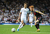 Leeds United's Helder Costa takes on Stoke City's Ryan Woods<br /> <br /> Photographer Alex Dodd/CameraSport<br /> <br /> The Carabao Cup Second Round- Leeds United v Stoke City - Tuesday 27th August 2019  - Elland Road - Leeds<br />  <br /> World Copyright © 2019 CameraSport. All rights reserved. 43 Linden Ave. Countesthorpe. Leicester. England. LE8 5PG - Tel: +44 (0) 116 277 4147 - admin@camerasport.com - www.camerasport.com