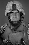 Capt. Luke McConnel, 30, Napa, California. Commanding Officer,  Kilo Company, 3rd Battalion, 1st Marine Regiment, 1st Marine Division, United States Marine Corps, at the company's firm base in Hit, Iraq on Friday Sept. 23, 2005.