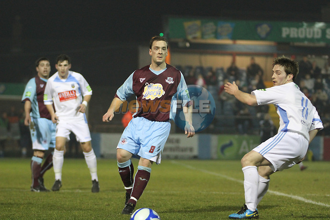United's Stephen McCrossan (8) as Drogheda Utd V UCD in the Airtricity League. (result UCD 1 Drogheda Utd 0)..(Photo credit should read Jenny Matthews/www.newsfile.ie)....This Picture has been sent you under the conditions enclosed by:.Newsfile Ltd..The Studio,.Millmount Abbey,.Drogheda,.Co Meath..Ireland..Tel: +353(0)41-9871240.Fax: +353(0)41-9871260.GSM: +353(0)86-2500958.email: pictures@newsfile.ie.www.newsfile.ie.
