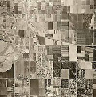 historical aerial photograph Chatsworth, California, 1947