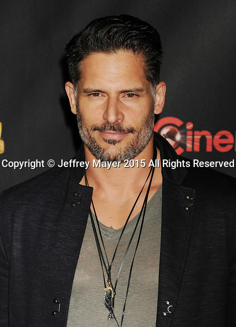 LAS VEGAS, CA - APRIL 21: Actor Joe Manganiello arrives at Warner Bros. Pictures Invites You to ?The Big Picture at The Colosseum at Caesars Palace during CinemaCon, the official convention of the National Association of Theatre Owners, on April 21, 2015 in Las Vegas, Nevada.