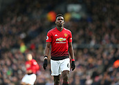 9th February 2019, Craven Cottage, London, England; EPL Premier League football, Fulham versus Manchester United; Paul Pogba of Manchester United looking on