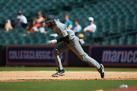 Brandt Belk (21) of the Missouri Tigers takes off for second base during the game against the Baylor Bears in game one of the 2020 Shriners Hospitals for Children College Classic at Minute Maid Park on February 28, 2020 in Houston, Texas. The Bears defeated the Tigers 4-2. (Brian Westerholt/Four Seam Images)