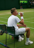 England, London, 28.06.2014. Tennis, Wimbledon, AELTC, Tim van Rijthoven (NED)<br /> Photo: Tennisimages/Henk Koster