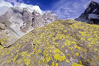 Lichen, granite and air : a trilogy underneath Sciora spires. Bergell, Switzerland, August 2011.