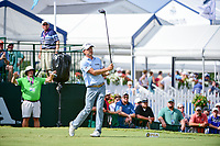 Kevin Kisner (USA) watches his tee shot on 10 during Sunday's final round of the PGA Championship at the Quail Hollow Club in Charlotte, North Carolina. 8/13/2017.<br /> Picture: Golffile | Ken Murray<br /> <br /> <br /> All photo usage must carry mandatory copyright credit (&copy; Golffile | Ken Murray)