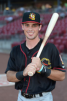 Quad Cities River Bandits outfielder Bobby Boyd (8) poses for a photo before a game against the Cedar Rapids Kernels on August 18, 2014 at Perfect Game Field at Veterans Memorial Stadium in Cedar Rapids, Iowa.  Cedar Rapids defeated Quad Cities 5-3.  (Mike Janes/Four Seam Images)
