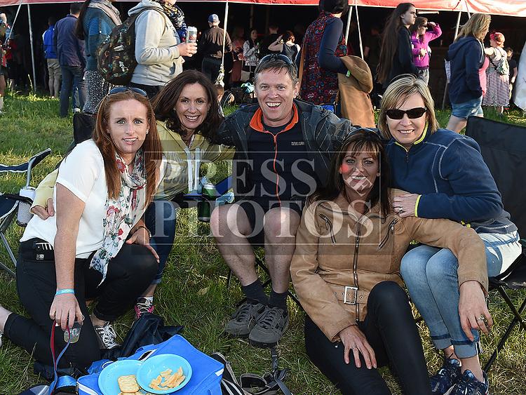 Gillian Munnley, Sinead Weldon, Gareth curran, Olwyn Curran and Siobhan Shortt at the Vantastival Festival at Beaulieu House.  Photo:Colin Bell/pressphotos.ie