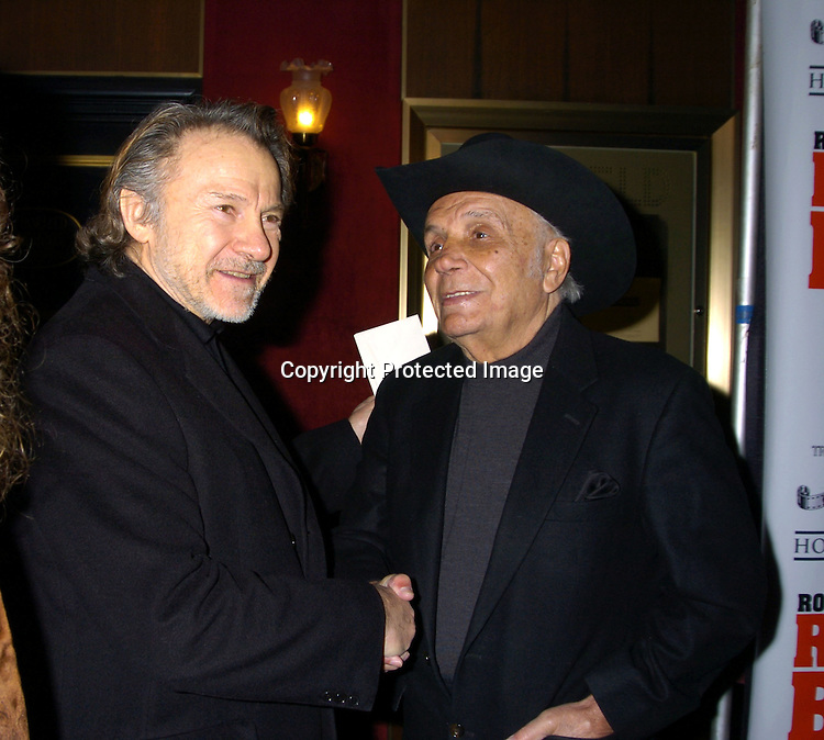 """Harvey Keitel and Jake LaMotta..at The Special 25th  Anniversary Premiere in New York City of """"Raging Bull"""" and the release of the Collectors Edition  DVD at The Ziegfeld Theatre on January 27, 2005...Photo by Robin Platzer, Twin Images"""