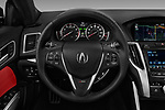 Car pictures of steering wheel view of a 2018 Acura TLX AUTO Technology & A-Spec Pack  RED Door 4 Sedan