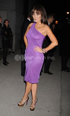 Lindsey Price arriving to the Fashion Group International's 25th Annual Night of Stars at Cipriani Wall Street in New York City. October 23, 2008. Credit: Dennis Van Tine/MediaPunch