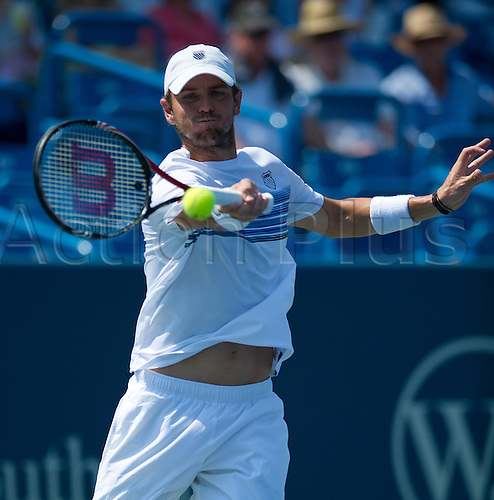 20.08.2010. Mardy Fish (USA) defeats Andy Murray (GBR) at the Western and Southern Financial Group Masters Series in Cincinnati. Fish won, 6-7, 6-1, 7-6.