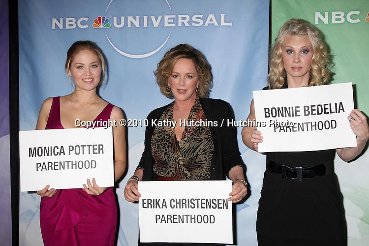 Erika Christensen, Bonnie Bedelia, Monica Potter.arriving at the 2010 Winter NBC TCA Party .Langford Hotel.Pasadena, CA.January 10, 2010.©2010 Kathy Hutchins / Hutchins Photo....