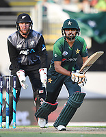 Babar Azam.<br /> Pakistan tour of New Zealand. T20 Series.2nd Twenty20 international cricket match, Eden Park, Auckland, New Zealand. Thursday 25 January 2018. &copy; Copyright Photo: Andrew Cornaga / www.Photosport.nz