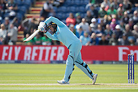 Jason Roy (England) straight drives for four during England vs Bangladesh, ICC World Cup Cricket at Sophia Gardens Cardiff on 8th June 2019