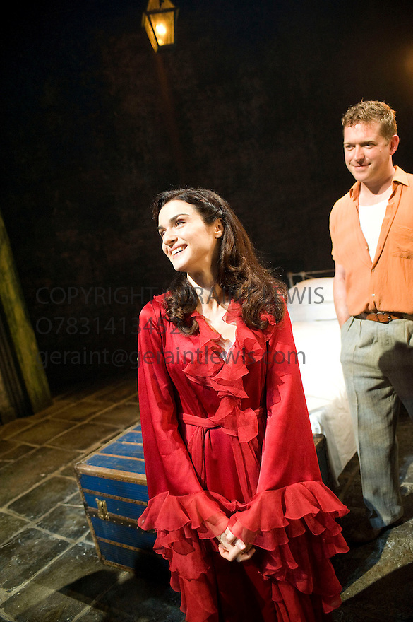 A Streetcar Named Desire by Tennessee Williams,directed by Rob Ashford.With Rachel Weisz as Blanche DuBois,Barnaby Kay as Mitch.Opens at The Donmar Warehouse Theatre on  28/7/09. CREDIT Geraint Lewis