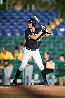 Pittsburgh Panthers Nick Banman (29) at bat during a game against the Siena Saints on February 24, 2017 at Historic Dodgertown in Vero Beach, Florida.  Pittsburgh defeated Siena 8-2.  (Mike Janes/Four Seam Images)