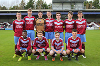Mervue United U15 line up before the U15 GFA Cup Final.<br /> <br /> Aaron Connolly (At age 15), back row, third from right.<br /> <br /> Mervue United v Salthill Devon, U15 GFA Cup Final, 12/5/15, Eamonn Deacy Park, Galway.