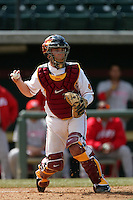 March 7 2010: Kevin Roundtree of USC during game against University of New Mexico at Dedeaux Field in Los Angeles,CA.  Photo by Larry Goren/Four Seam Images