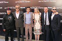 Avi Arad, Rhys Ifans, Andrew Garfield, Emma Stone, Marc Webb, Matt Tolmach - The Amazing Spider-Man - photocall in Madrid NORTEPHOTO.COM<br />