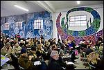 Conferenza stampa di presentazione di ContemporaryArt 2012 al Bunker di via Paganini, in Barriera di Milano. Ottobre 2012