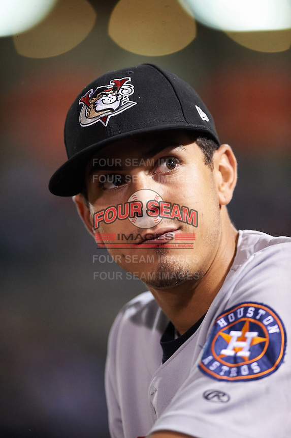 Tri-City ValleyCats Alexander Melendez (4) during a game against the Aberdeen Ironbirds on August 6, 2015 at Ripken Stadium in Aberdeen, Maryland.  Tri-City defeated Aberdeen 5-0 in a combined no-hitter.  (Mike Janes/Four Seam Images)