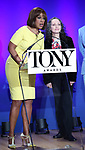 Gayle King and Bebe Neuwirth during The 73rd Annual Tony Awards Nominations Announcement on April 30, 2019 in New York City.