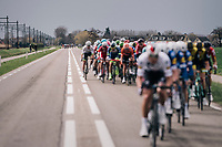 peloton in pieces<br /> <br /> 106th Scheldeprijs 2018 (1.HC)<br /> 1 Day Race: Terneuzen (NED) - Schoten (BEL)(200km)
