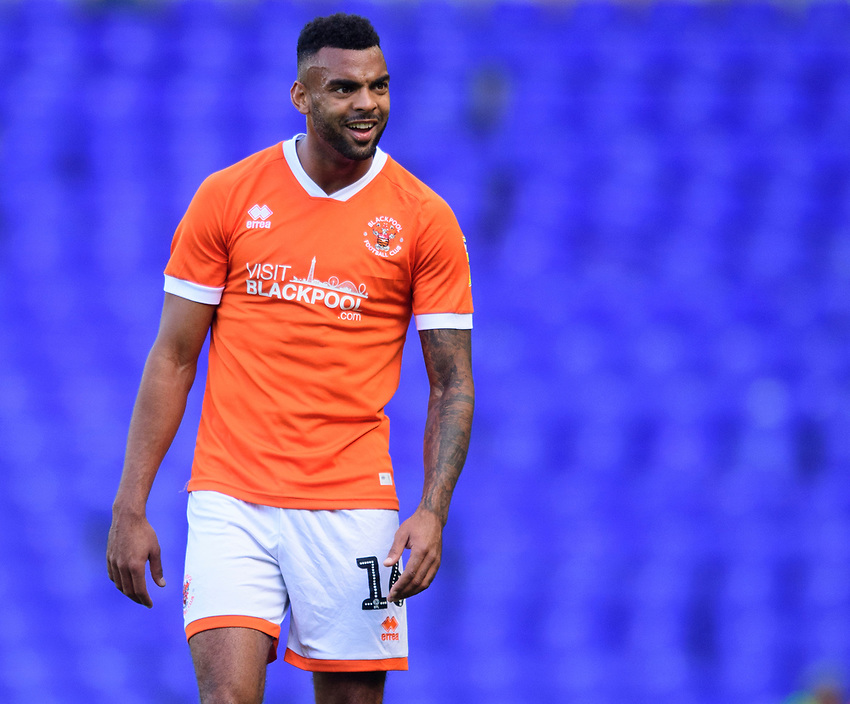 Blackpool's Curtis Tilt<br /> <br /> Photographer Chris Vaughan/CameraSport<br /> <br /> The EFL Sky Bet League One - Coventry City v Blackpool - Saturday 7th September 2019 - St Andrew's - Birmingham<br /> <br /> World Copyright © 2019 CameraSport. All rights reserved. 43 Linden Ave. Countesthorpe. Leicester. England. LE8 5PG - Tel: +44 (0) 116 277 4147 - admin@camerasport.com - www.camerasport.com