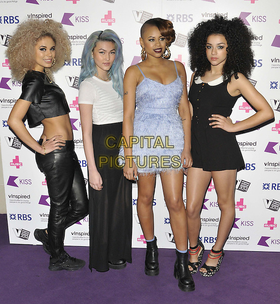 LONDON, ENGLAND - MARCH 27: Neon Jungle ( Jess Plummer, Asami Zdrenka, Shereen Cutkelvin &amp; Amira McCarthy )  attends the vinspired Awards 2014, indigO2 at the O2, Millennium Way, Greenwich, on Thursday March 27, 2014 in London, England, UK.<br /> CAP/CAN<br /> &copy;Can Nguyen/Capital Pictures