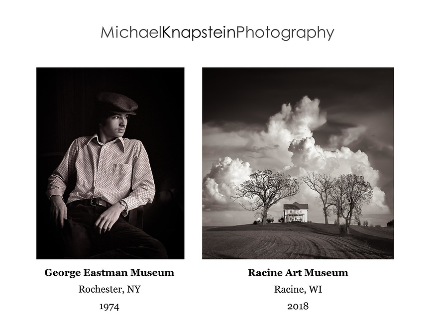 These images represent the first and latest photographs I have had accepted into the permanent collection of museums. I guess the 44 year apread means I have been doing this a while!