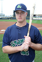August 30, 2003:  Travis Hinton of the Beloit Snappers during a game at Fifth Third Field in Dayton, Ohio.  Photo by:  Mike Janes/Four Seam Images