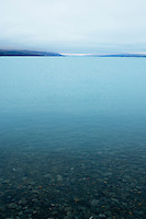 Cloudy weather over lake Pukaki, New Zealand