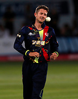 Joe Denly prepares to bowl for Kent during the Vitality Blast T20 game between Kent Spitfires and Essex Eagles at the St Lawrence Ground, Canterbury, on Thu Aug 2, 2018
