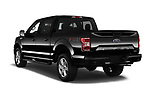 Car pictures of rear three quarter view of a 2018 Ford F-150 XLT 4wd SuperCrew 4 Door Pick Up angular rear