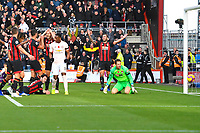 AFC Bournemouth players show their frustration after Marcus Rashford of Manchester United had scored the second and winning goal during AFC Bournemouth vs Manchester United, Premier League Football at the Vitality Stadium on 3rd November 2018