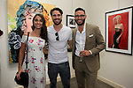 SANTA MONICA - JUN 25:James O'Halloran, Jaimee Gooley, Simon Phan at the David Bromley LA Women Art Exhibition opening reception at the Andrew Weiss Gallery on June 25, 2016 in Santa Monica, California