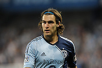 Graham Zusi (8) midfield Sporting KC..Sporting Kansas City defeated Montreal Impact 2-0 at Sporting Park, Kansas City, Kansas.